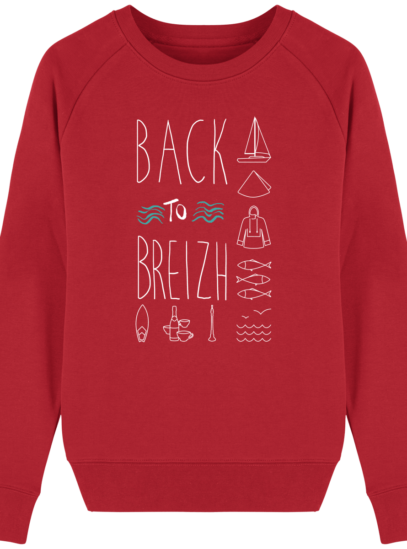 Sweat Femme Breton Back to Breizh - Red - Face