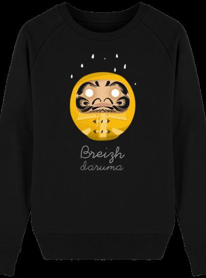 Sweat Femme éthique Ciré jaune - Black - Face