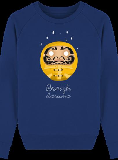 Sweat Femme éthique Ciré jaune - Majorelle Blue - Face