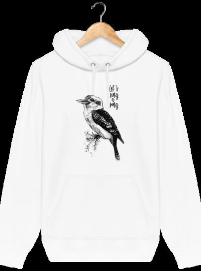 Sweat à capuche Unisexe éthique Kookaburra - White - Face