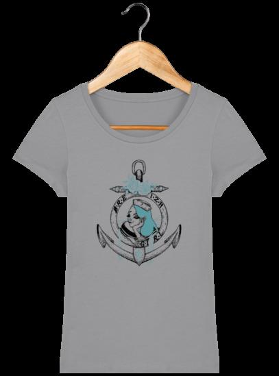 T-Shirt Femme Bretonne Breizh Gril Bleu - Opal - Face