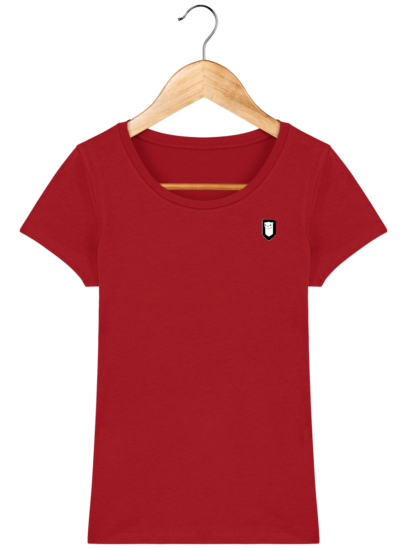 T-Shirt Femme Bretonne Broderie Breizh Traveller - Red - Face