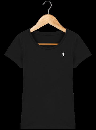 T-Shirt Femme Bretonne Broderie Breizh Traveller - Black - Face