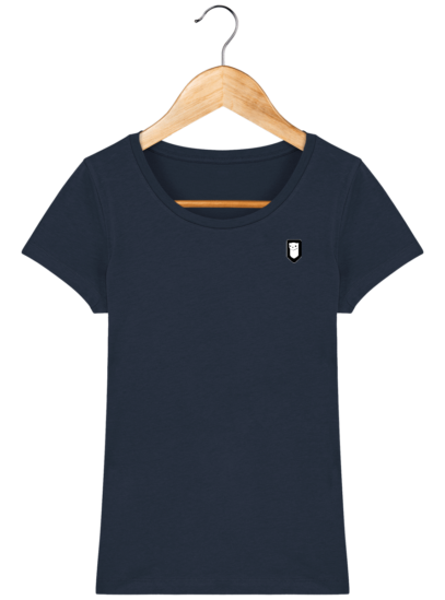 T-Shirt Femme Bretonne Broderie Breizh Traveller - French Navy - Face
