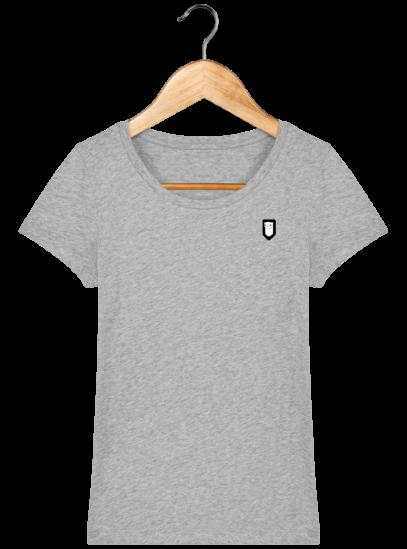 T-Shirt Femme Bretonne Broderie Breizh Traveller - Heather Grey - Face