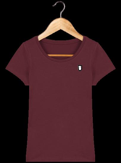 T-Shirt Femme Bretonne Broderie Breizh Traveller - Burgundy - Face