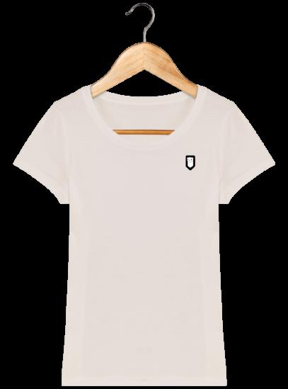 T-Shirt Femme Bretonne Broderie Breizh Traveller - Off White - Face