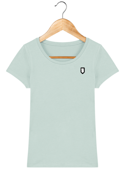 T-Shirt Femme Bretonne Broderie Breizh Traveller - Caribbean Blue - Face