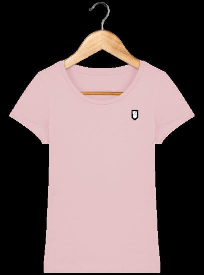 T-Shirt Femme Bretonne Broderie Breizh Traveller - Cotton Pink - Face