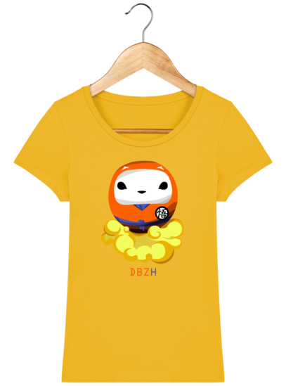T-Shirt Femme éthique Dragon BZH - Spectra Yellow - Face