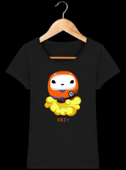 T-Shirt Femme éthique Dragon BZH - Black - Face