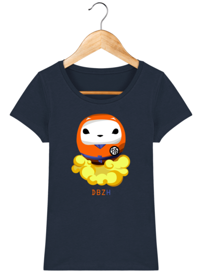 T-Shirt Femme éthique Dragon BZH - French Navy - Face