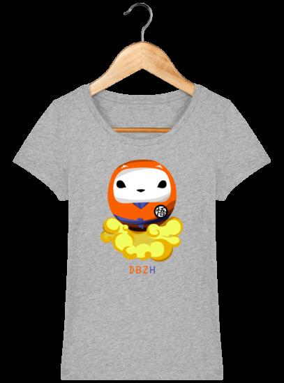 T-Shirt Femme éthique Dragon BZH - Heather Grey - Face