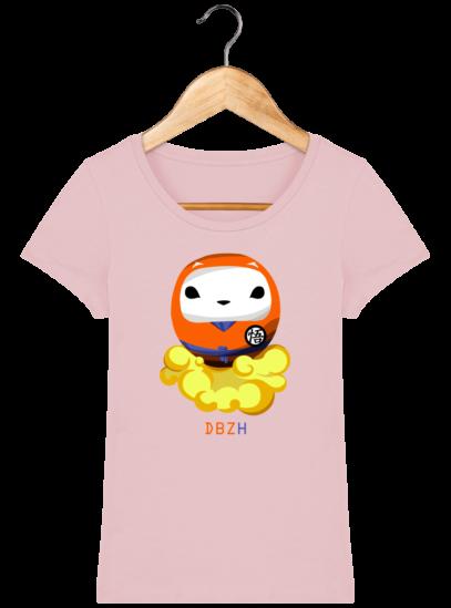 T-Shirt Femme éthique Dragon BZH - Cotton Pink - Face