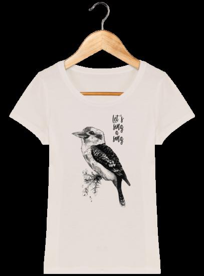T-Shirt Femme éthique Kookaburra - Off White - Face