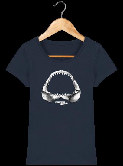 T-Shirt Femme éthique Shark - French Navy - Face