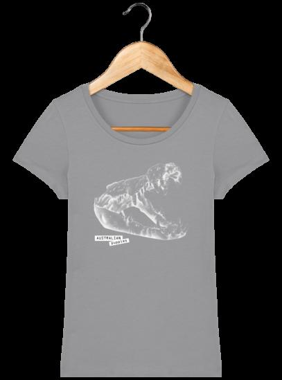 T-Shirt Femme éthique Crocodile - Opal - Face