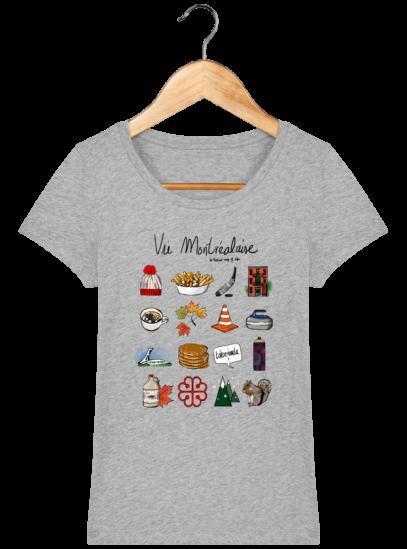 T-Shirt Femme éthique Vie Montréalaise - Heather Grey - Face