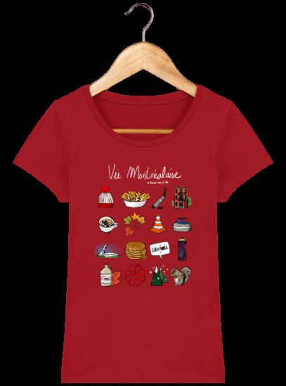 T-Shirt Femme éthique Vie Montréalaise - Red - Face