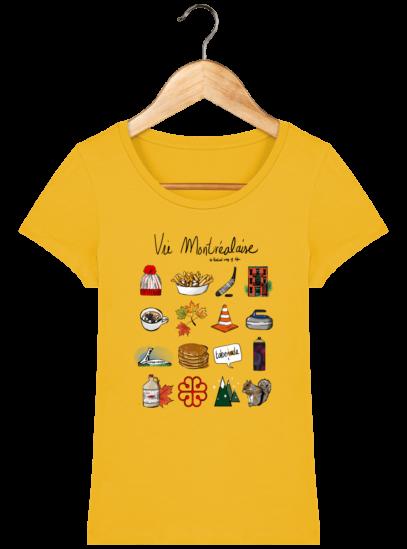 T-Shirt Femme éthique Vie Montréalaise - Spectra Yellow - Face