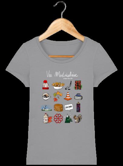 T-Shirt Femme éthique Vie Montréalaise - Opal - Face