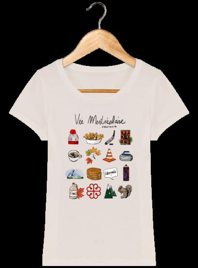 T-Shirt Femme éthique Vie Montréalaise - Off White - Face