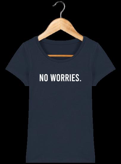 T-Shirt Femme éthique No Worries - French Navy - Face