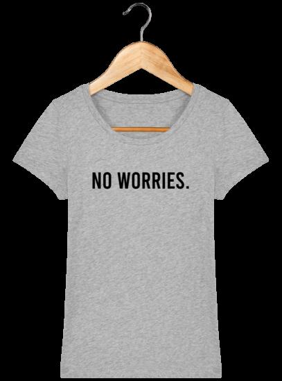 T-Shirt Femme éthique No Worries - Heather Grey - Face