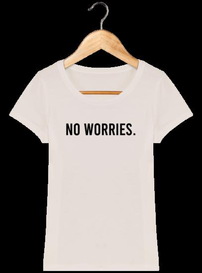 T-Shirt Femme éthique No Worries - Off White - Face