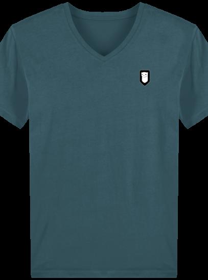 T-Shirt Homme V Breton Broderie Breizh Traveller - Stargazer - Face