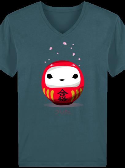 T-Shirt Homme V éthique Cerisier Japonais - Stargazer - Face