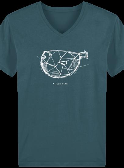 T-Shirt Homme V éthique Fugu time - Stargazer - Face
