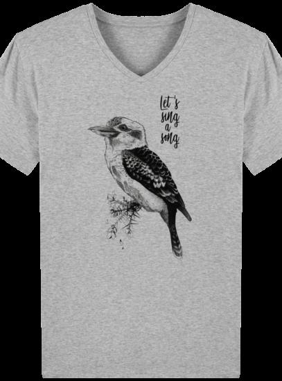 T-Shirt Homme V éthique Kookaburra - Heather Grey - Face
