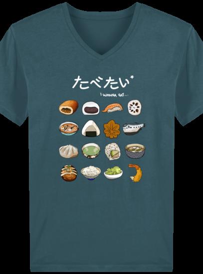 T-Shirt Homme V éthique Gastronomie Japonaise - Stargazer - Face