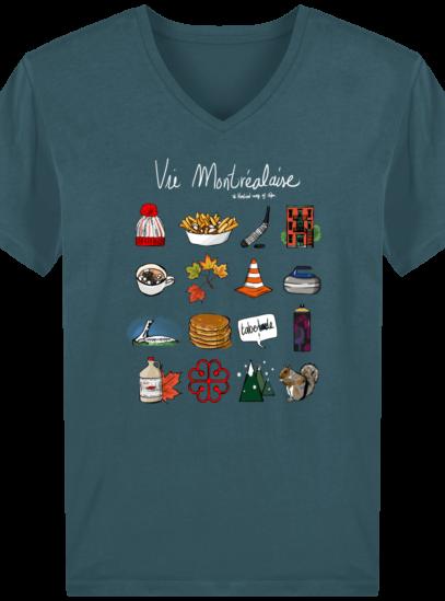 T-Shirt Homme V éthique Vie Montréalaise - Stargazer - Face