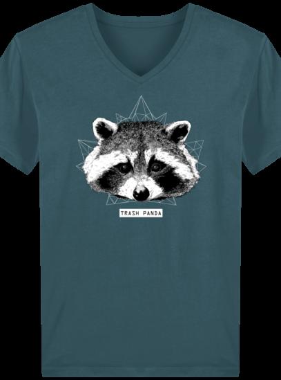 T-Shirt Homme V éthique Raton Laveur - Stargazer - Face