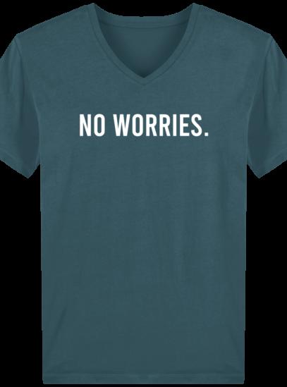 T-Shirt Homme V éthique No Worries - Stargazer - Face