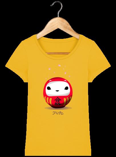 T-Shirt Femme éthique Cerisier Japonais - Spectra Yellow - Face