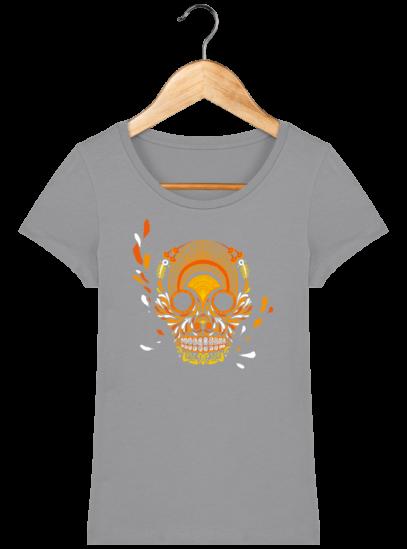 T-Shirt Femme éthique Breizh Skull - Opal - Face