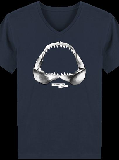 T-Shirt Homme V éthique Shark - French Navy - Face
