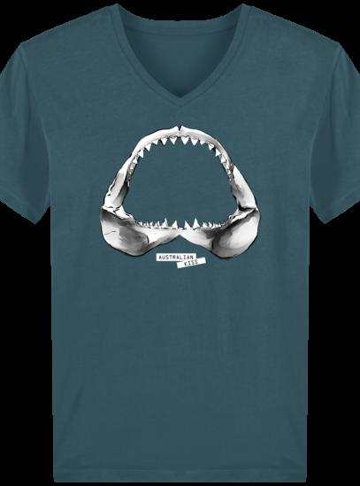 T-Shirt Homme V éthique Shark - Stargazer - Face