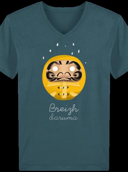 T-Shirt Homme V éthique Ciré jaune - Stargazer - Face