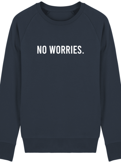 Sweat Homme éthique No Worries - French Navy - Face