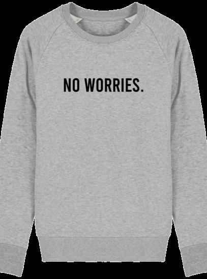 Sweat Homme éthique No Worries - Heather Grey - Face