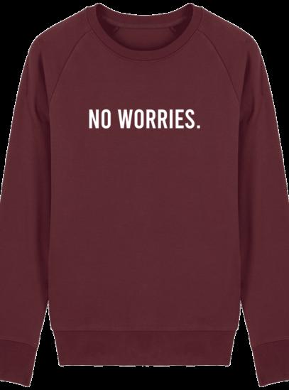 Sweat Homme éthique No Worries - Burgundy - Face