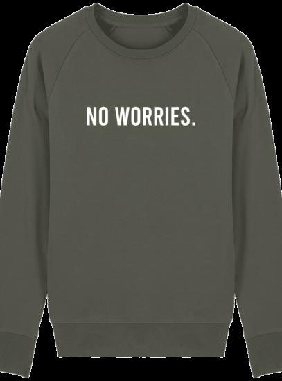 Sweat Homme éthique No Worries - Khaki - Face