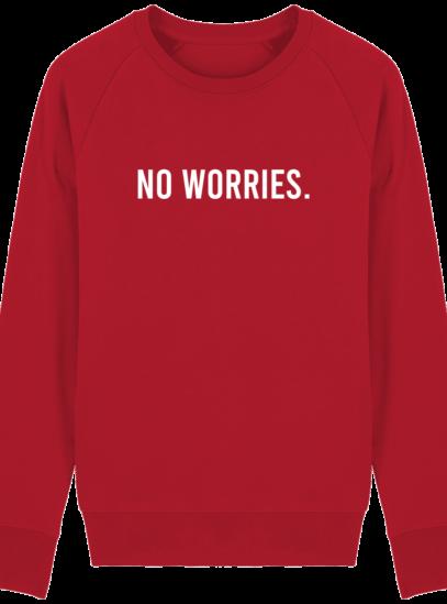 Sweat Homme éthique No Worries - Red - Face