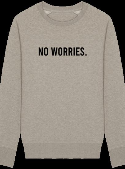 Sweat Homme éthique No Worries - Heather Sand - Face