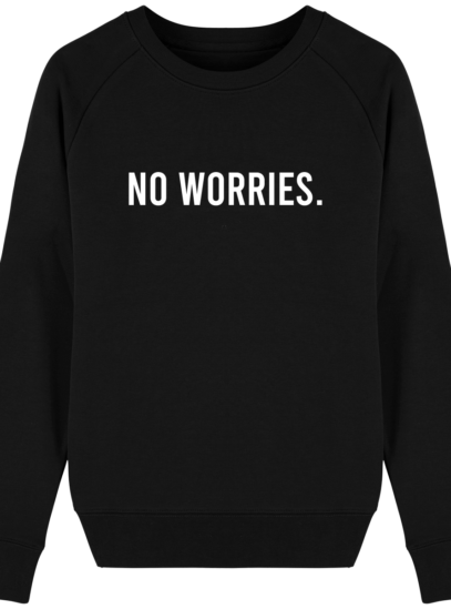 Sweat Femme éthique No Worries - Black - Face