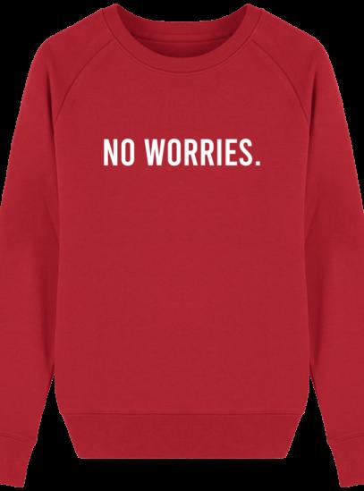 Sweat Femme éthique No Worries - Red - Face